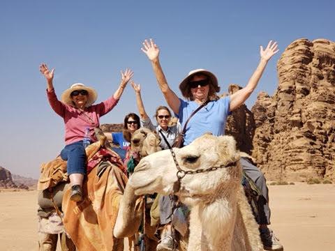Jordan Wadi-Rum camel riders