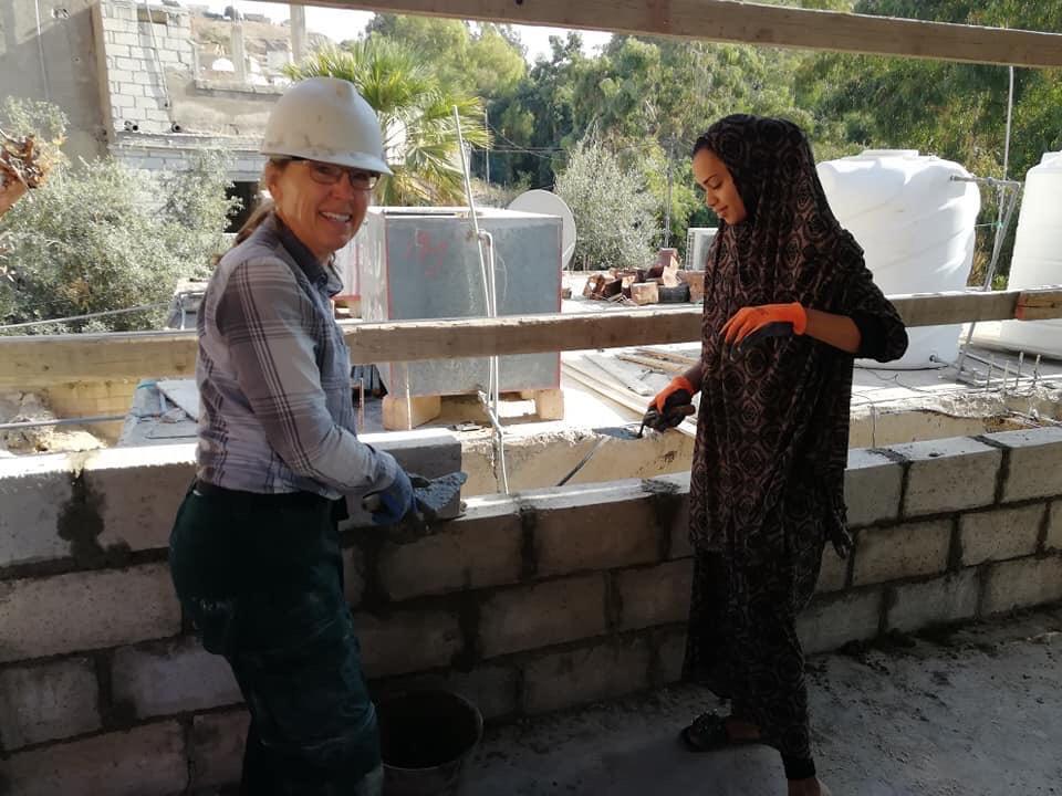 Jordan build site joyce and homeowner