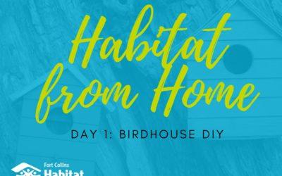 Habitat from Home: Birdhouse DIY